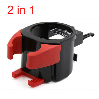 2 in 1 Universal Black Red Car Air Vent Phone Holder Mount Cup Bottle Holder
