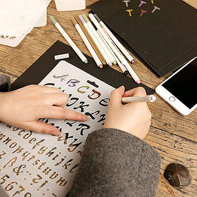 Letter Alphabet Number Layering Stencils Scrapbooking Drawing Template For Learn