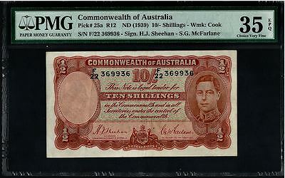 (1939) ND Australia; Commonwealth 10s PMG VF35 EPQ (Pick 25a)
