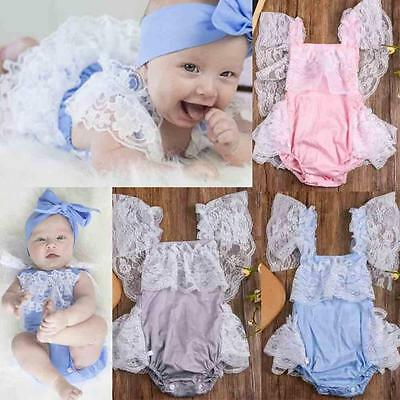 Newborn Infant Baby Kids Girls Clothes Lace Romper Jumpsuit Cake Sunsuit Outfits
