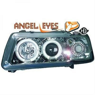 Audi A3 Angel Eyes Designscheinwerfer Set Klar Chrom Bj.96-00