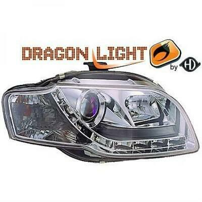 Audi A4 DragonLights LED Daylight Designscheinwerfer TFL Chrom Bj.04-08