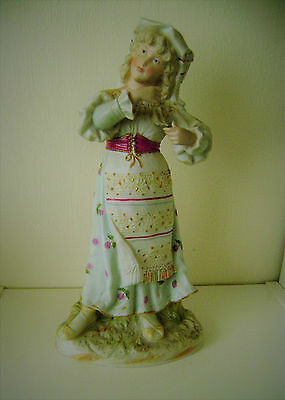 German Porcelain Figurine Fine Vintage Quality Young Women Dancing Traditional
