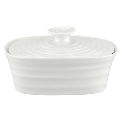 Portmeirion Sophie Conran white covered butter dish with lid