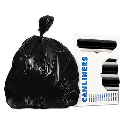 Accufit Low-Density Can Liners, 55 gal, 0.9 mil, 40 x 53, Black, 100/Carton