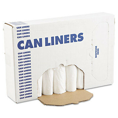 EH-Grade Can Liners, 24 x 32, 12-16gal, .4mil, White, 25 Bags/Roll, 20 Rolls/CT
