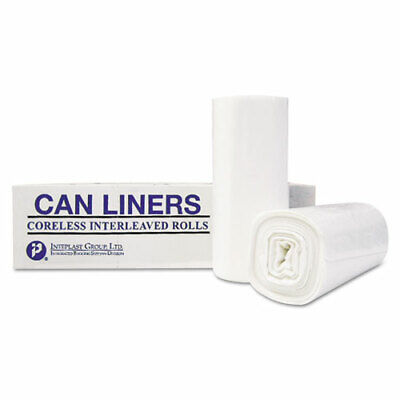 High-Density Can Liner, 36 x 58, 55-Gallon, 13 Micron Equivalent, Clear,...