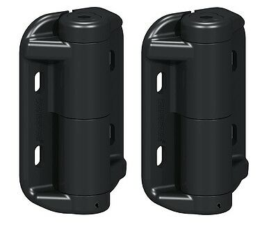 Kwik Fit Self Closing Gate Hinges Adjustable Tension Plastic No Legs PAIR - HPH