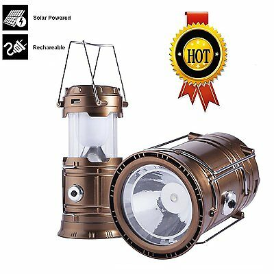 3-in-1 Rechargeable Solar Ultra Bright Led Camping Lantern & Portable Outdoor