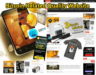 High Quality BTC WebSite with Store and fully Customizable
