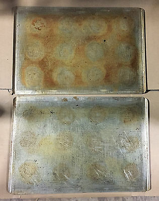 """12 + PERFORATED BAKING SHEETPANS PANS 18"""" x 26"""" FULL SIZE LIP  """"TR4020"""""""