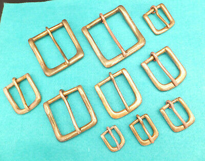 """ANTIQUE Heavy Duty Solid Cast Brass West End Buckle Leathercraft   3/4"""" to 2"""""""