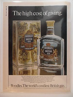 1981 Print Ad Boodles British Gin ~ The High Cost of Giving