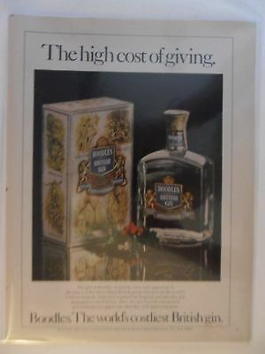 1978 Print Ad Boodles British Gin ~ The High Cost of Giving