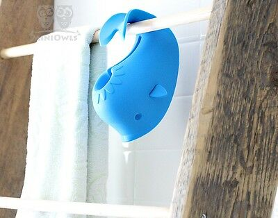 Baby Bath Tub Safety Spout Cover Soft Rubber Moby Whale Blue Faucet Protect Toy