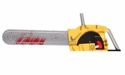 """Leatherface Bloody Sounds Prop The Texas Chainsaw Massacre Rubies Large 27"""" Gory"""