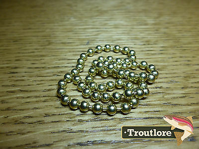 Hareline Bead Chain Eyes Large Gold - New Nymph / Wet Fly Tying Materials