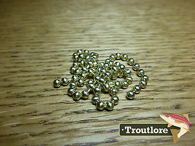 Hareline Bead Chain Eyes Medium Gold - New Nymph / Wet Fly Tying Materials