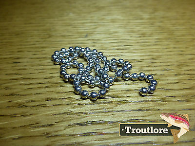 Hareline Bead Chain Eyes Medium Silver - New Nymph / Wet Fly Tying Materials