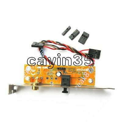 SPDIF Optical and RCA Out Plate Cable Bracket for ASUS Gigabyte MSI Motherboard