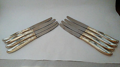 """International Silver Sweep Set of EIGHT 8 1/2"""" Knives"""