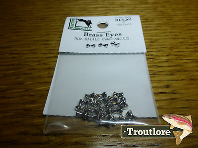 Hareline Brass Eyes Small Nickel Dumbbell - New Streamer Wet Fly Tying Materials