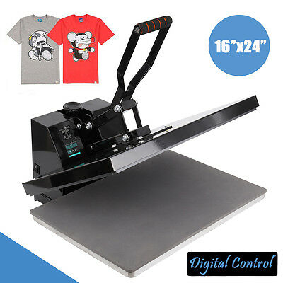 1600W 16 *24 Inches Clamshell T-Shirt Heat Press Machine Transfer Sublimation
