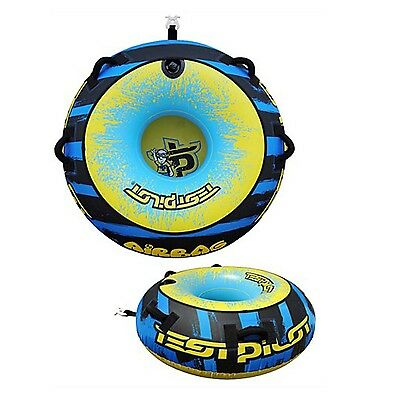 "Test Pilot Airbag 1 Person 54"" Towable Water Ski Tube Inflatable Biscuit Ride"