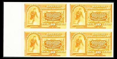 Us #e3P4; 10¢ Special Delivery Plate Proof On Card , Xf-Ngai-Nh Blk 4, Cv $310+