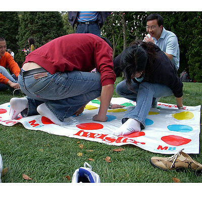 Funny Kids Body Twister Moves Mat Board Game Group Party Outdoor Sport