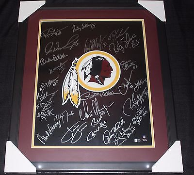 Framed Washington Redskins Autographed Legends 16x20 Photo W 25 Sigs Fanatics