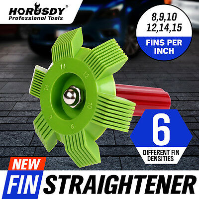 6 in1 Fin Comb Straightener Cleaner Automotive A/C Radiator Evaporator Condenser