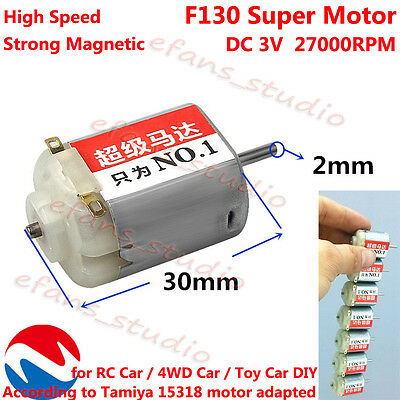 DC 3V 27000RPM High Speed Magnetic Super FF-130 Motor For Toy Racing Car 4WD Car