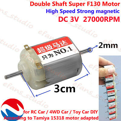 DC3V 27000RPM High Speed Magnetic Dual Shaft FF-130 Motor For DIY Toy Racing Car