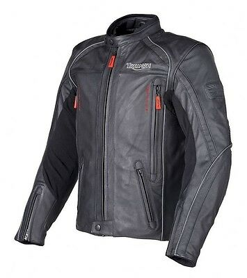 GENUINE Triumph H2 Sport Waterproof Leather Jacket UK 42 EU 52 43% OFF RRP