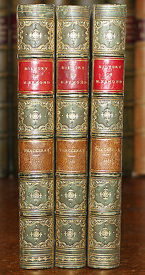 1852 The History of Henry Esmond W M THACKERAY 3 Vols First Edition Fine Binding