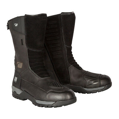 Spada Stelvio WP Motorcycle Motorbike Leather Waterproof  Touring Boots - Black