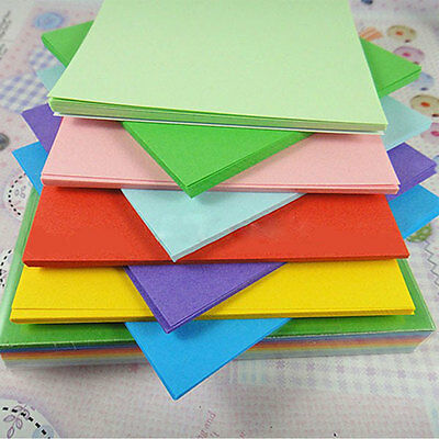 Origami Square Paper Double Sided Sheets Colorful Scrapbooking New 8CM
