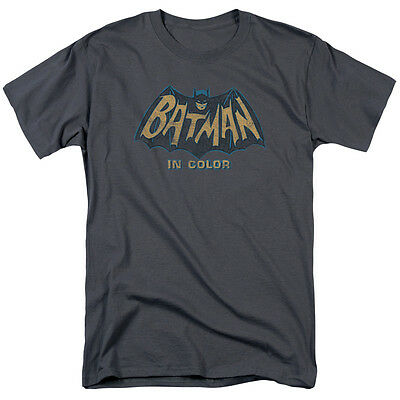 Batman Classic 60's TV Show IN COLOR Logo Licensed Adult T-Shirt All Sizes