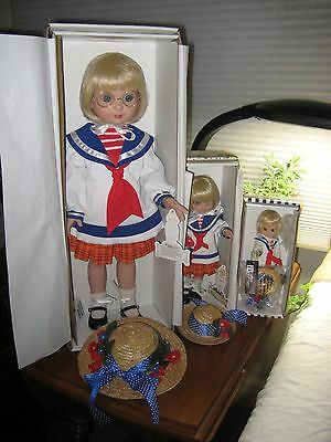 """Tonner 18"""" 10"""" 8"""" Anne Estelle Classic Sailor Collection of All Three Dollls"""