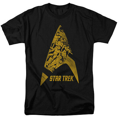 Star Trek Comics Crew in DELTA Vintage Style Adult T-Shirt All Sizes