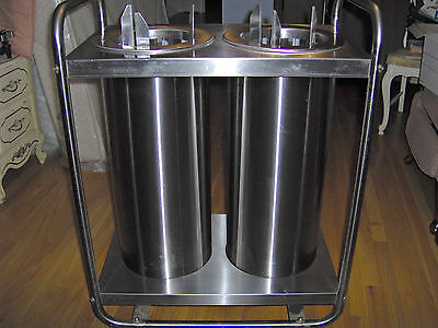 Lakeside Stainless Steel used plate lowerator cart, Model 772