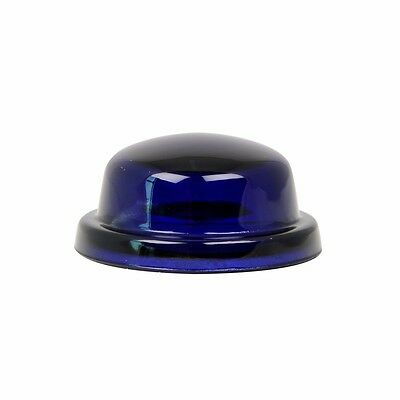 "dome light lens 1-9/16"" blue glass requires rubber grommet 80460 Peterbilt"