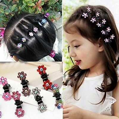 12Pcs Hair Claw Plum Shape Cute Mini Alloy Hair Clip Women Girl Hair Accessories