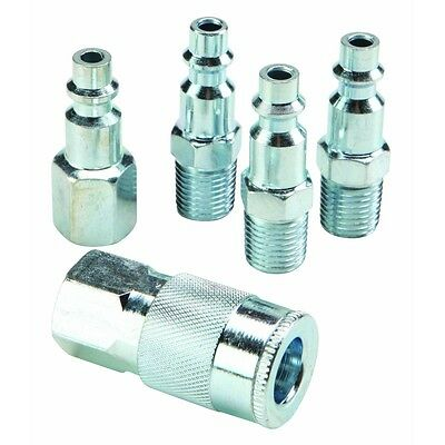 Quick Connect Air Fittings >> 5 Pc 1 4 Steel Air Coupler Set Quick Connect Air Plug Set