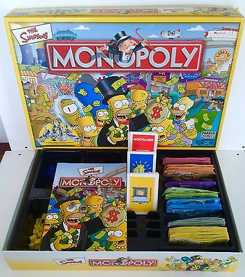 The Simpsons Edition Monopoly Board Game Parker Bros Hasbro 2004