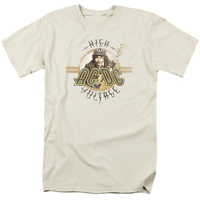 ACDC AC-DC Rock Band HIGH VOLTAGE Album Cover Vintage Style T-Shirt All Sizes