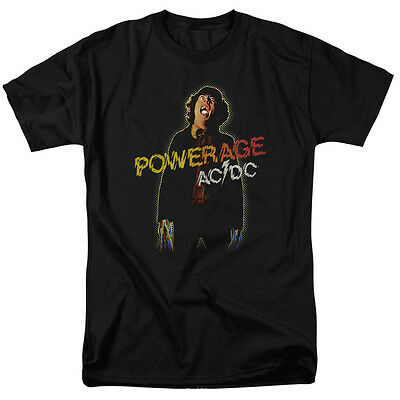 ACDC AC-DC Rock Band POWERAGE Album Art Vintage Style T-Shirt All Sizes