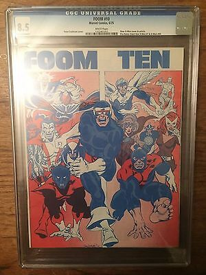 Foom  #10  Cgc 8.5  (1St New X-Men) Pre Dates Giant Size X-Men 1 & X-Men 94