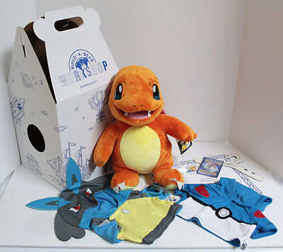 Build-A-Bear Pokemon GO Charmander Eevee Plush w/Sound - Online Exclusive - NIB